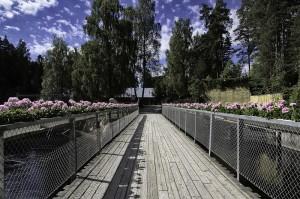 Nydelig parkområde på Kistefos (Foto: Per Sibe)