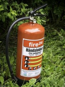 Husk brannslukker i bobilen. (Foto: Per Sibe)