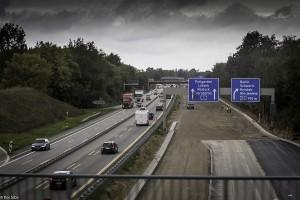 Stor trafikk på tyske motorveier (Foto: Per Sibe)